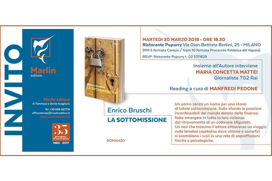 La sottomissione - Invito alla presentazione del libro di Enrico Bruschi